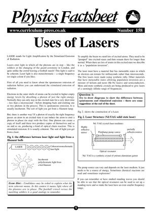 158 Lasers