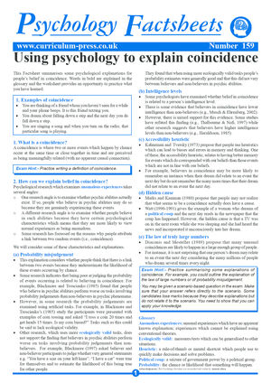 159 Psychology To Explain Coincidence