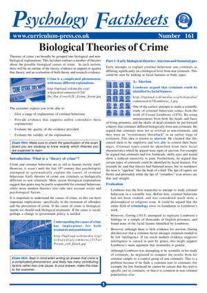 161 Biological Theories Of Crime