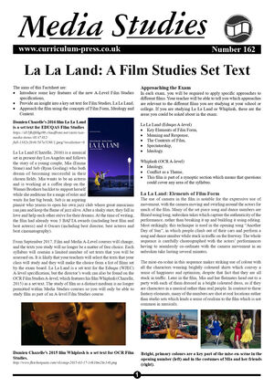 162 La La Land   A Film Studies Set Text