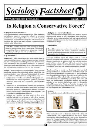 162 Religion A Conservative Force