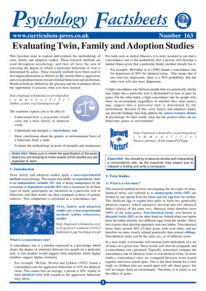 163 Evaluating Twin Family And Adoption Studies