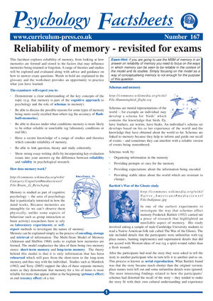 167 Reliability Of Memory Revisited