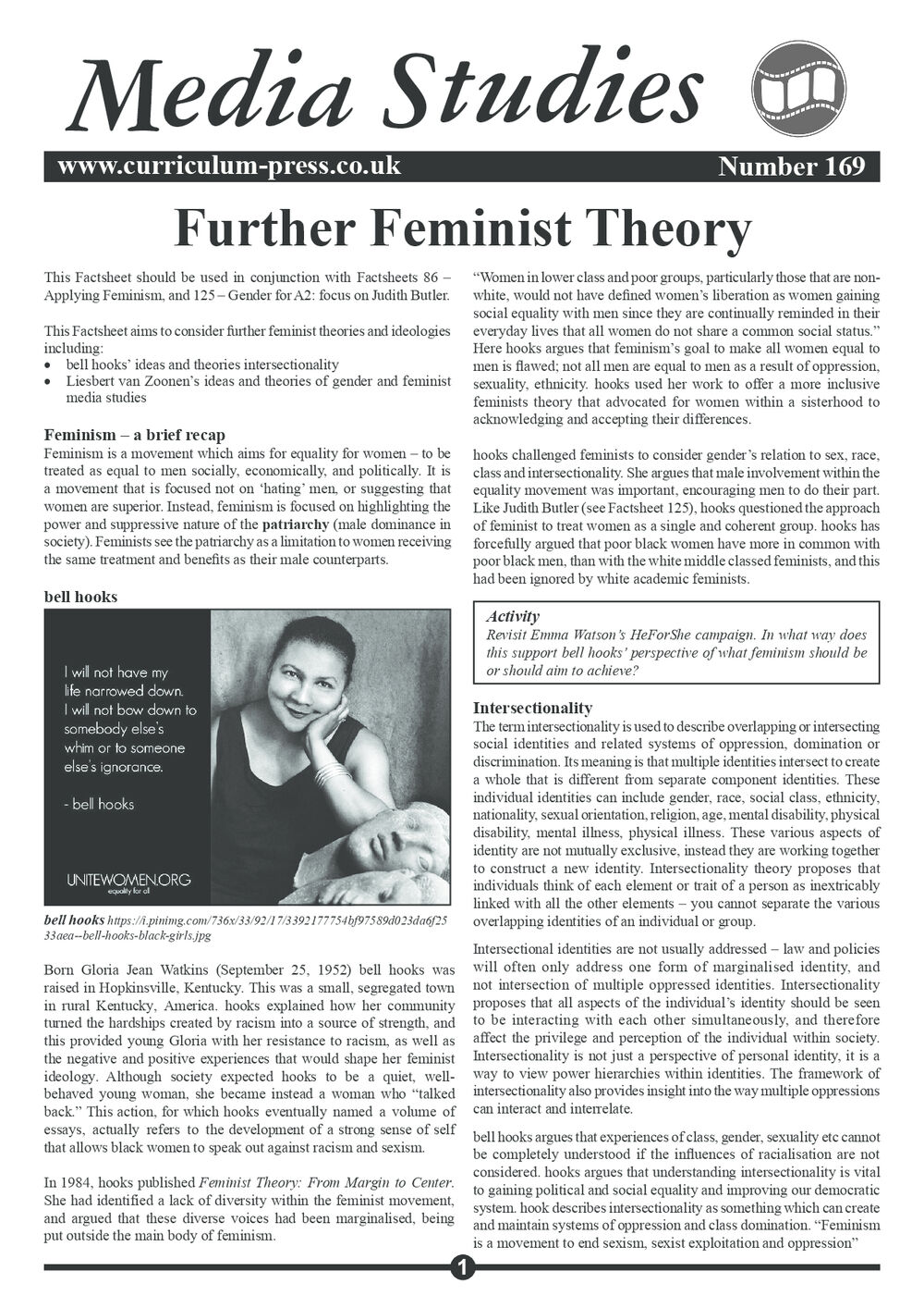 169 Further Feminist Theory