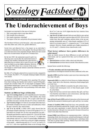 171 The Underachievement Of Boys