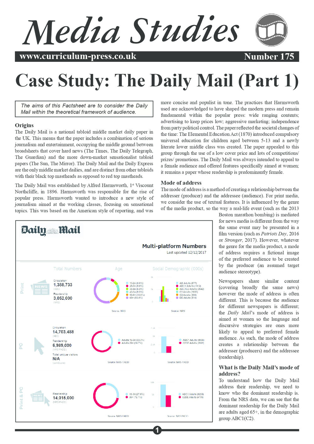 175 Daily Mail Case Study Part 1