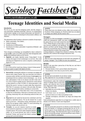 175 Teenage Identities And Social Media