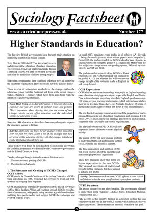 177 Higher Standards In Education Sample