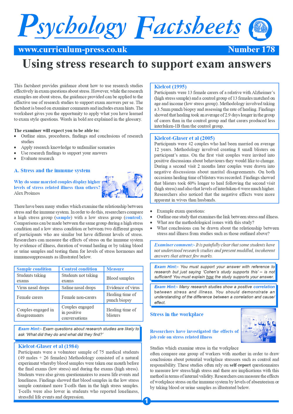 178 Using Stress Research