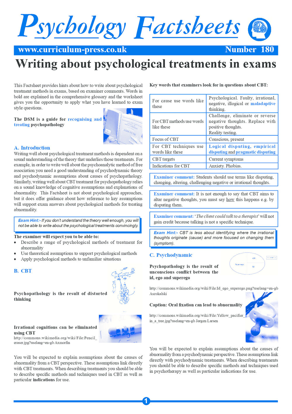 180 Psychological Treatments In Exams