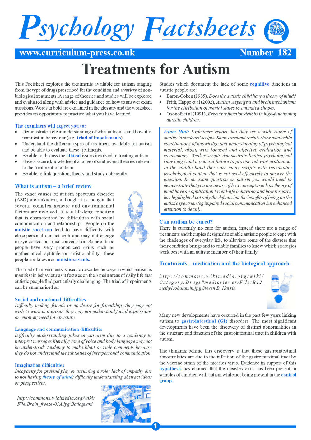 182 Treatments For Autism