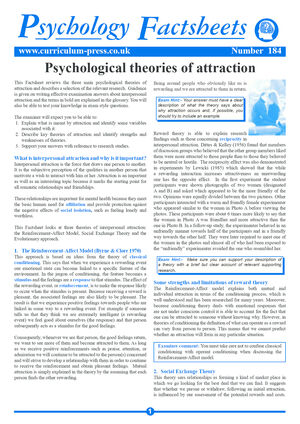 184 Psychological Theories Of Attraction
