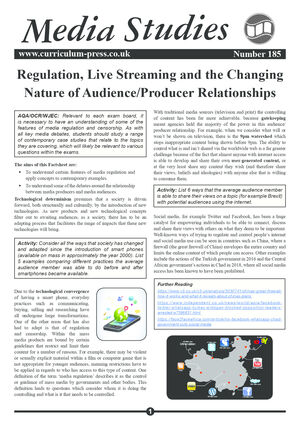 185 Regulation Live Streaming Audience Producer Relationships