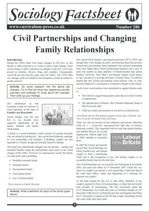 186 Civil Partnerships And Familiy Relationships