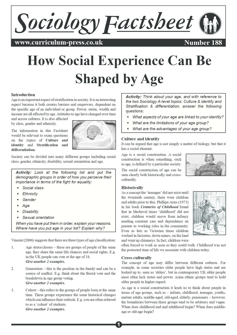 188 How Social Experience Can Be Shaped By Age