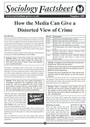 189 How The Media Can Give A Distorted View Of Crime