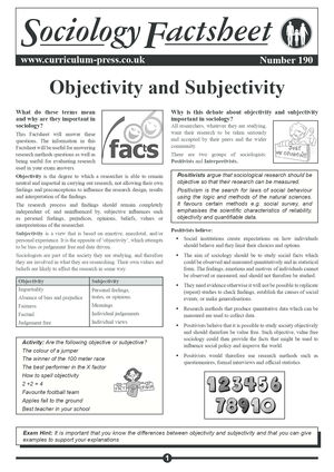 190 Objectivity And Subjectivity