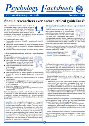 191 Ethical Guidelines