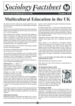 192 Multicultural Education In The Uk Sample