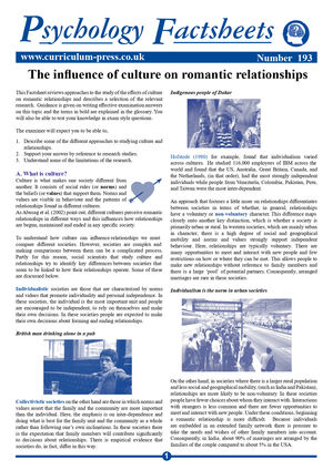 193 Culture On Romantic Relationships