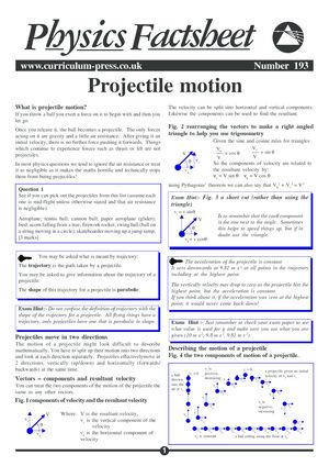 193 Projectile Motion