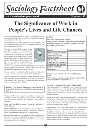 193 The Significance Of Work