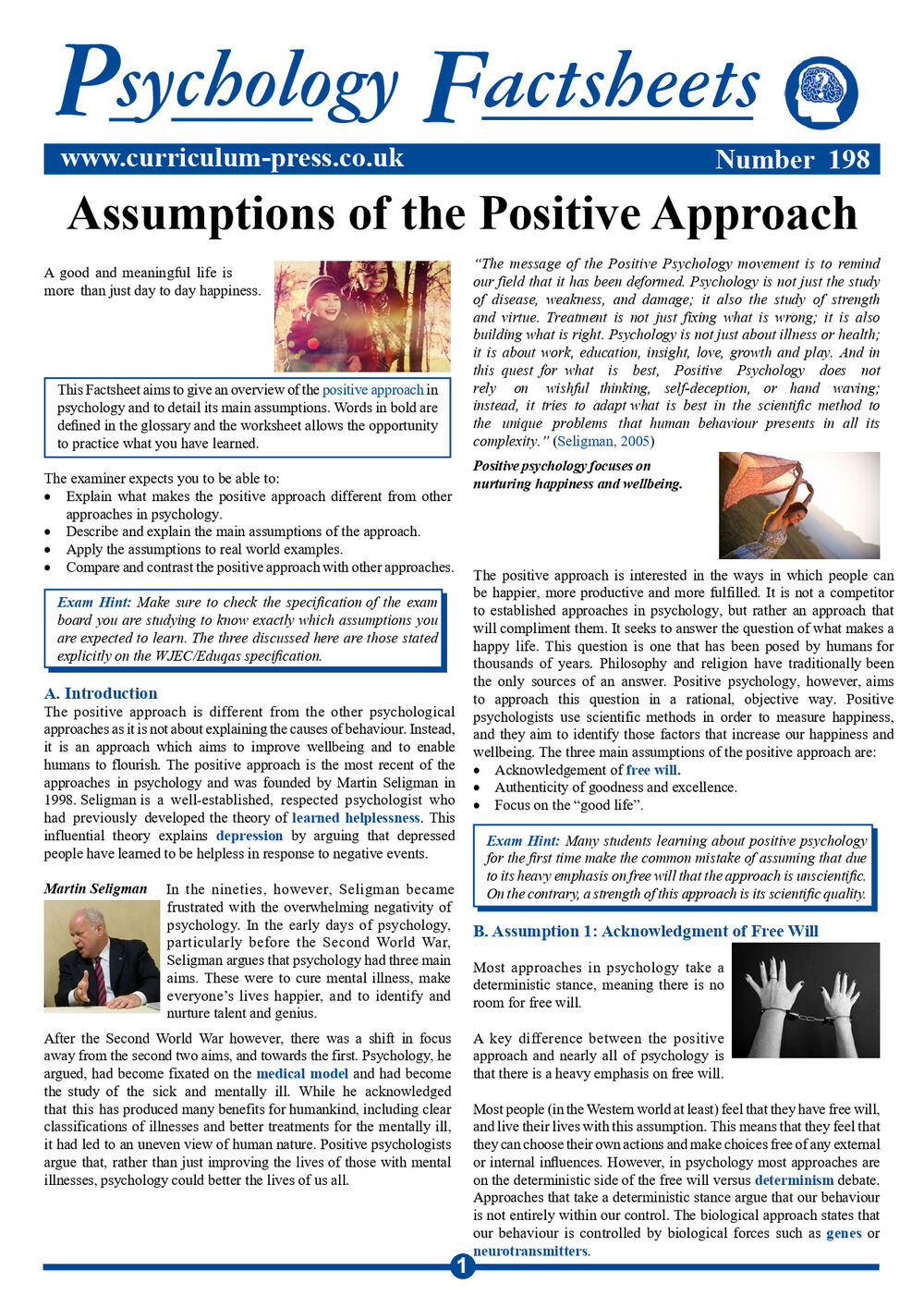 198 Assumptions Of The Positive Approach