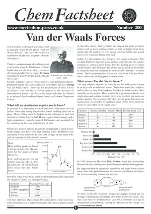 200 Van Der Waals Forces