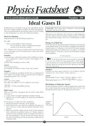 205 Ideal Gases Ii