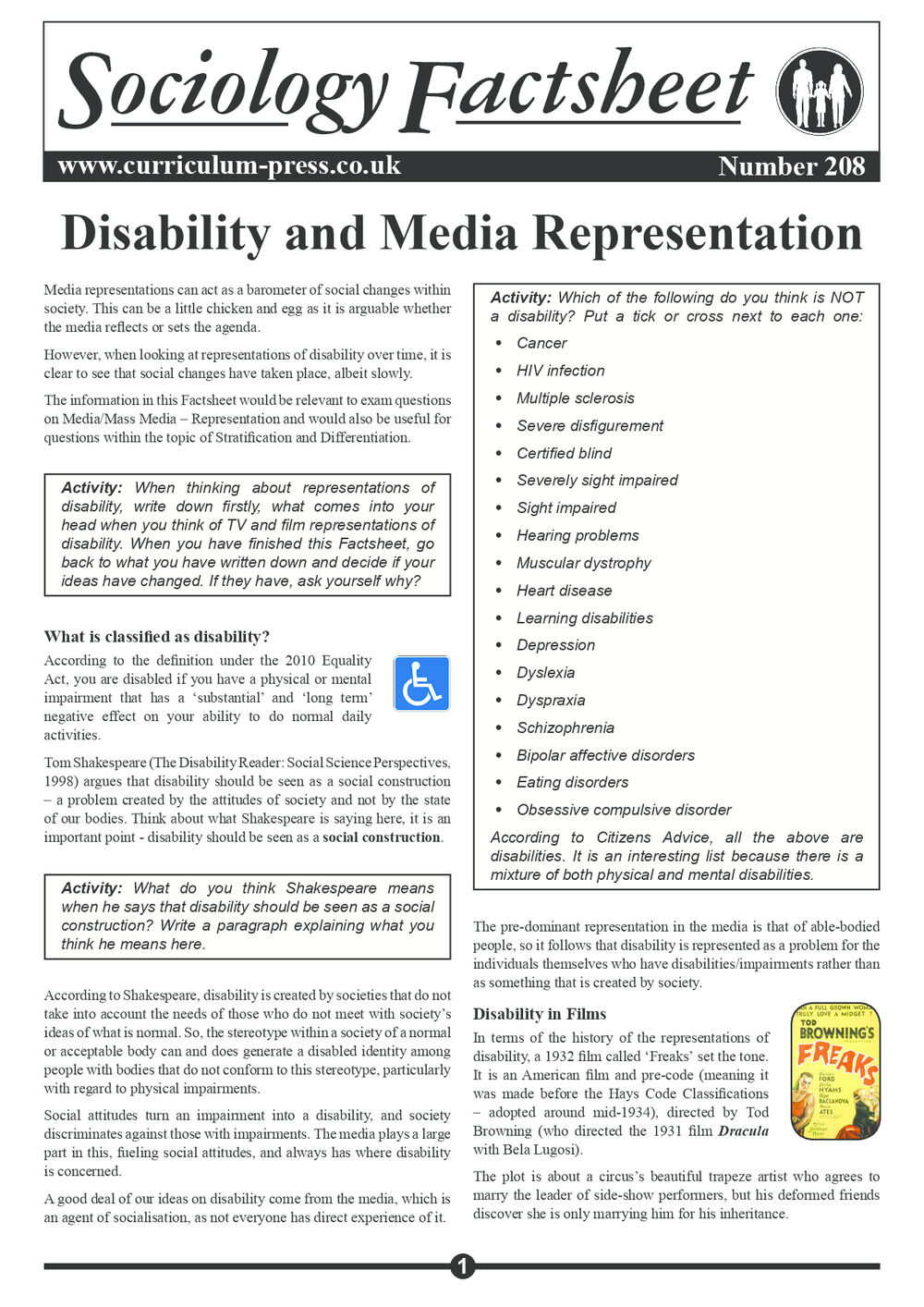 208 Disability And Media Representations