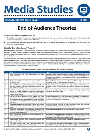208 End of Audience Theories