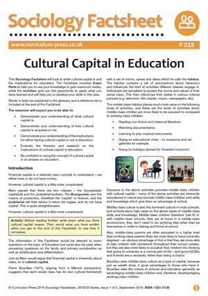 213 Cultural Capital in Education