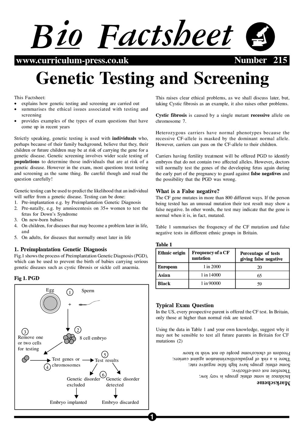 215 Genetic Screening