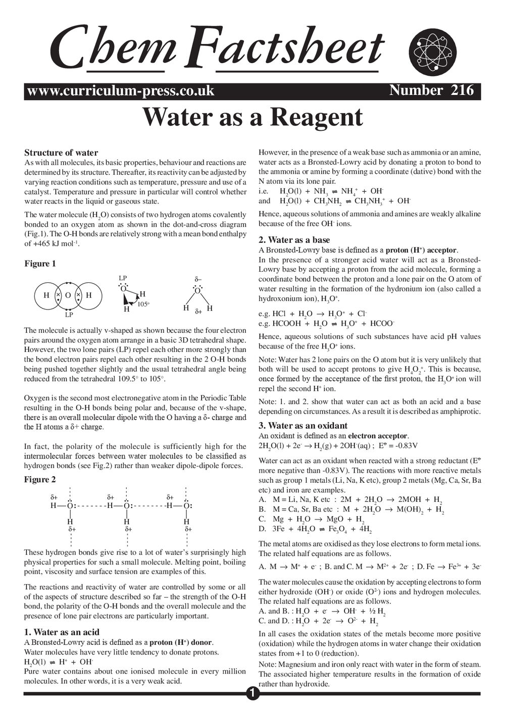 216 Water As A Reagent