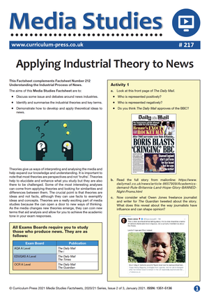 217 Applying Industrial Theory to News