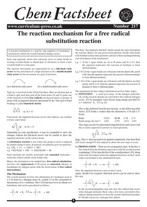 217 Free Radical Subsitution