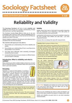 218 Reliability and Validity v2