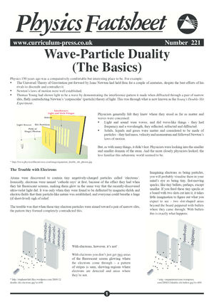 221 Wave Particle Duality