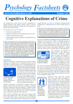223 Cognitive Explanations Of Crime Sample