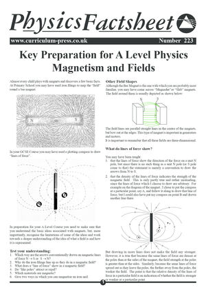 223 Key Prep   Magnetism And Fields