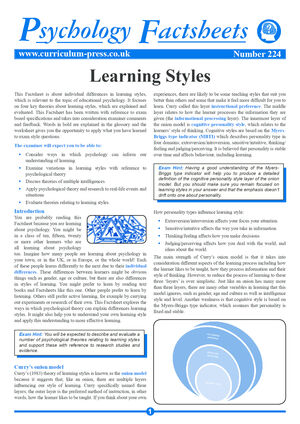 224 Learning Styles