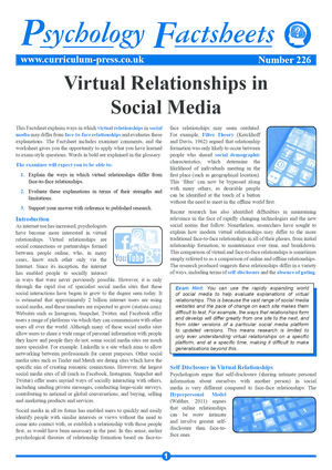 226 Virtual Relationships In Social Media