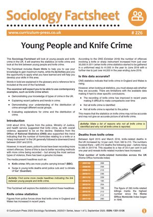 226 Young People and Knife Crime