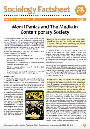 229 Moral Panics and The Media in Contemporary Society
