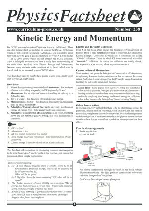 238 Kinetic Energy And Momentum
