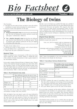 239 Biology Of Twins