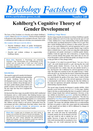 240 Kohlbergs Cognitive Theory Of Gender Development V2