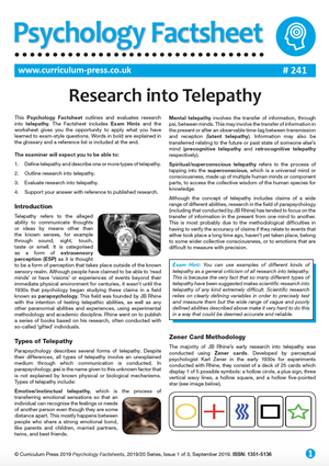 241 Research Into Telepathy