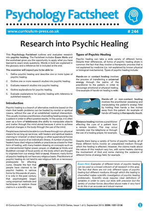 244 Research Into Psychic Healing