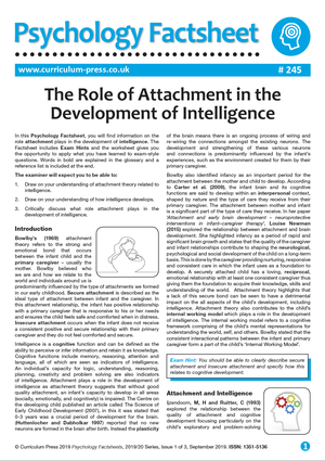 245 The Role Of Attachment In The Development Of Intelligence V2